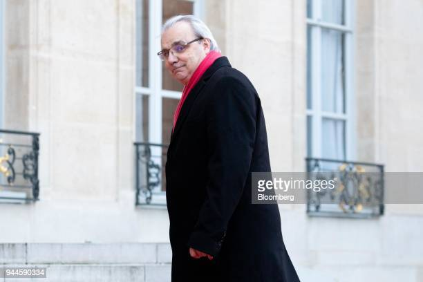 JeanLouis Chaussade chief executive officer of Suez SA arrives at the Elysee Palace ahead of a dinner with Mohammed bin Salman Saudi Arabia's crown...