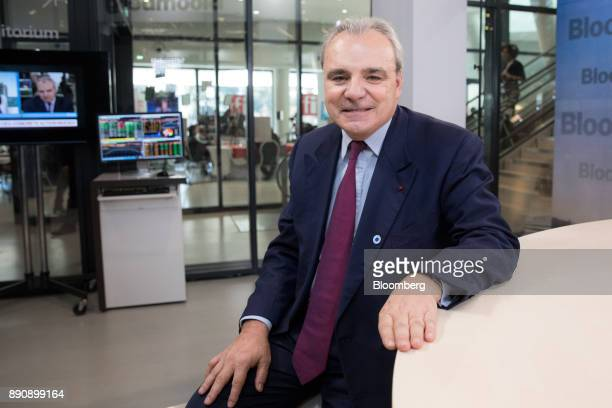 JeanLouis Chaussade chief executive officer of Suez SA poses for a photograph ahead of a Bloomberg Television interview at the One Planet Summit in...