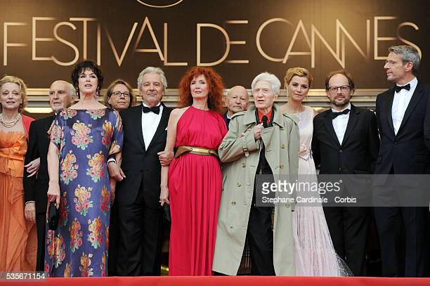 JeanLouis Livi Annie Duperey Pierre Arditi Sabine Azema Alain Resnais Anne Consigny Bruno Podalydes and Lambert Wilson at the premiere for 'Vous...