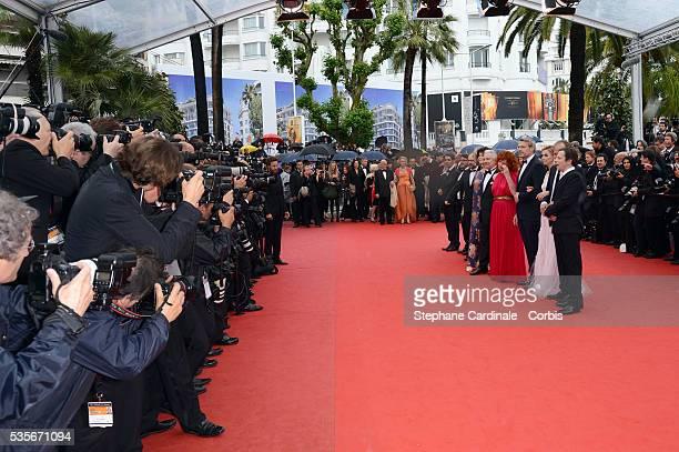 JeanLouis Livi Michel Vuillermoz Annie Duperey Pierre Arditi Sabine Azema Lambert Wilson Anne Consigny and Hippolyte Girardot at the premiere for...
