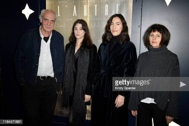 JeanLouis Martinelli Astrid BergesFrisbey Charlotte Dauphin and Anouk Grinberg attend 'L'Autre' Directed By Charlotte Dauphin Premiere at Cinema Beau...