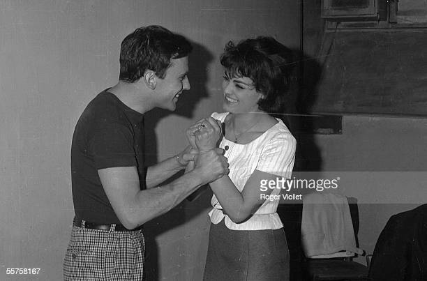 JeanLouis Trintignant and Catherine Rouvel at the Theatre des Varietes acting Marius by Marcel Pagnol Paris 1962 HA2199