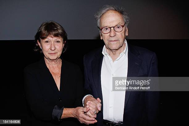 Jean-Louis Trintignant and his companion Marianne Hoepfner attend 'Amour' Premiere at la cinematheque on October 15, 2012 in Paris, France.