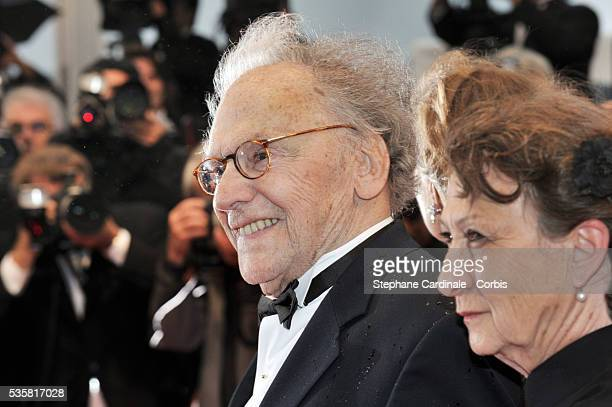 """Jean-Louis Trintignant and Nadine Trintignant at the premiere for """"Amour"""" during the 65th Cannes International Film Festival."""
