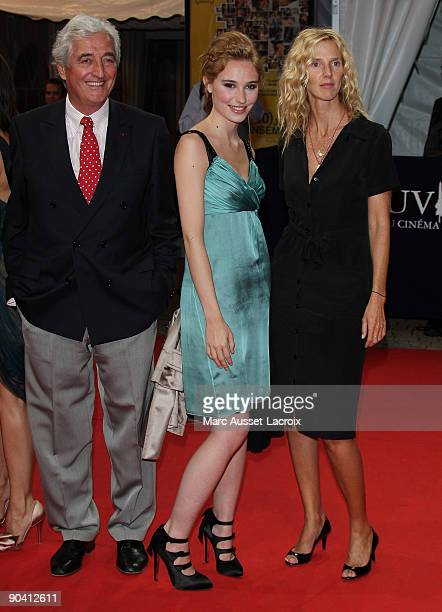 JeanLoup Dabadie and Deborah Francois and Sandrine Kiberlain arrive for the screening of the movie 'Me and Orson Welles' at the 35th American Film...