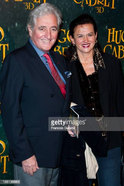 Jean-Loup Dabadie and guest attend the 'Hugo Cabret 3D' premiere at Cinema UGC Normandie on December 6, 2011 in Paris, France.