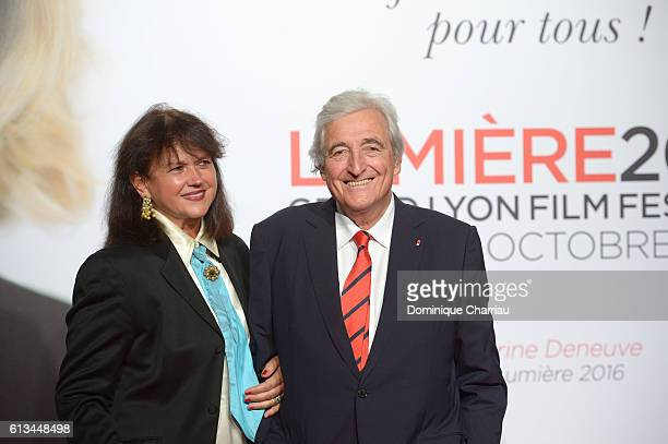 JeanLoup Dabadie and his wife attend the opening ceremony of the 8th Film Festival Lumiere on October 8 2016 in Lyon France