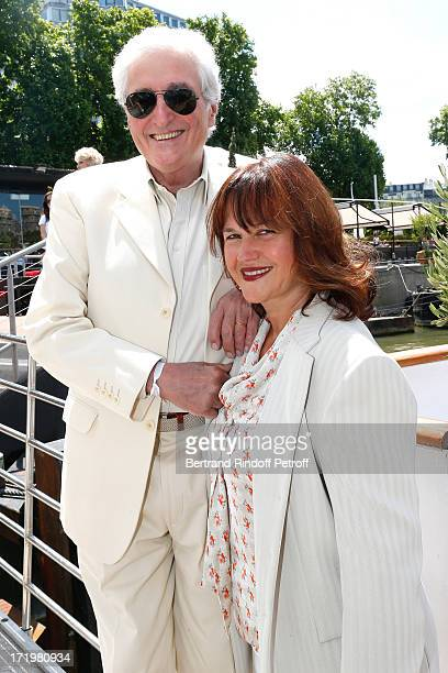 JeanLoup Dabadie and his wife Veronique attend 'Brunch Blanc' hosted by Groupe Barriere for Sodexho with a cruise in Paris on June 30 France
