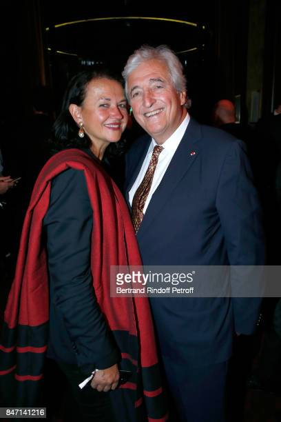 Jean-Loup Dabadie and his wife Veronique Bachet attend the Reopening of the Hotel Barriere Le Fouquet's Paris, decorated by Jacques Garcia, at Hotel...
