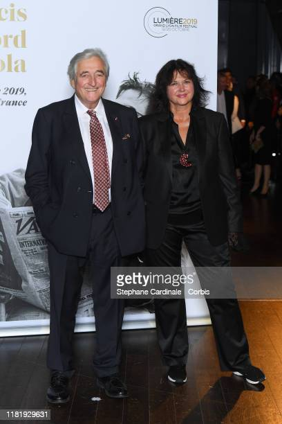 JeanLoup Dabadie and his wife Veronique Bachet attend the tribute to Francis Ford Coppola during the 11th Film Festival Lumiere on October 18 2019 in...