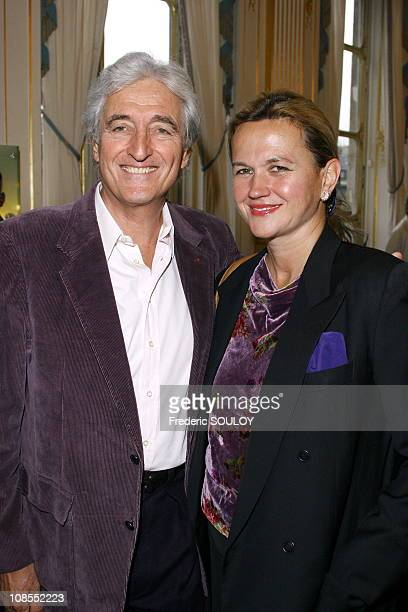 Jean-Loup Dabadie and wife in Paris, France on October 05, 2006.