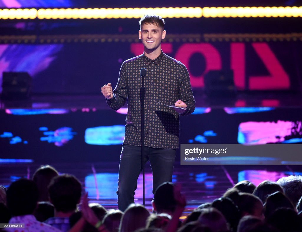 Jean-Luc Bilodeau speaks onstage during the Teen Choice Awards 2017 at Galen Center on August 13, 2017 in Los Angeles, California.