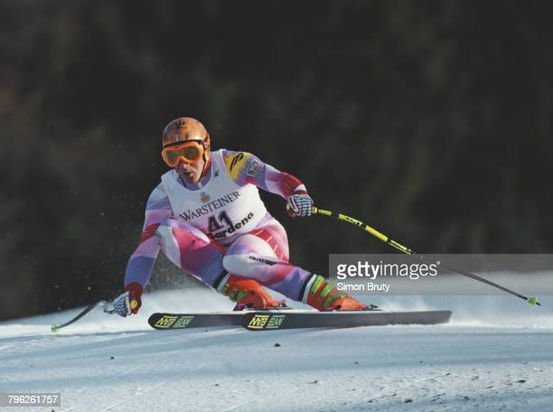 JeanLuc Cretier of France skiing during the International Ski Federation Men's Downhill competition at the FIS Alpine World Ski Cup on 14 December...