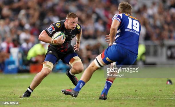 JeanLuc du Preez of the Cell C Sharks during the Super Rugby match between Cell C Sharks and DHL Stormers at Jonsson Kings Park on April 21 2018 in...