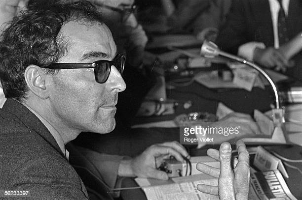 JeanLuc Godard at the French filmmakers collective Cannes festival 1968 HA194615