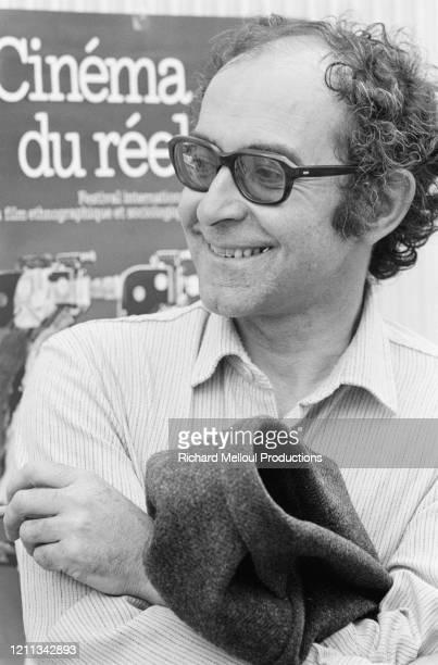 """Jean-Luc Godard à Cannes pour sa première participation au festival pour présenter son dernier film """" sauve qui peut """""""