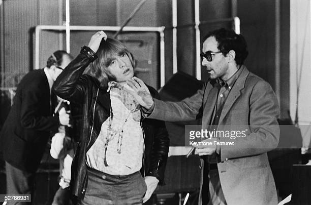 JeanLuc Godard directs Brian Jones of the Rolling Stones during the shooting of the documentary film 'Sympathy For the Devil' 30th July 1968