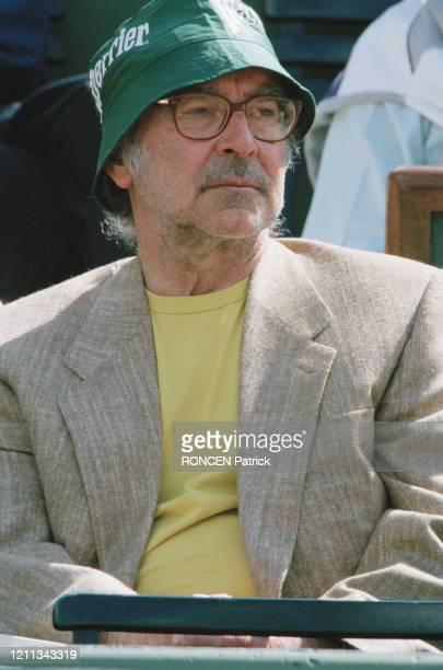 Jean-Luc Godard lors du tournoi de Tennis de Roland Garros