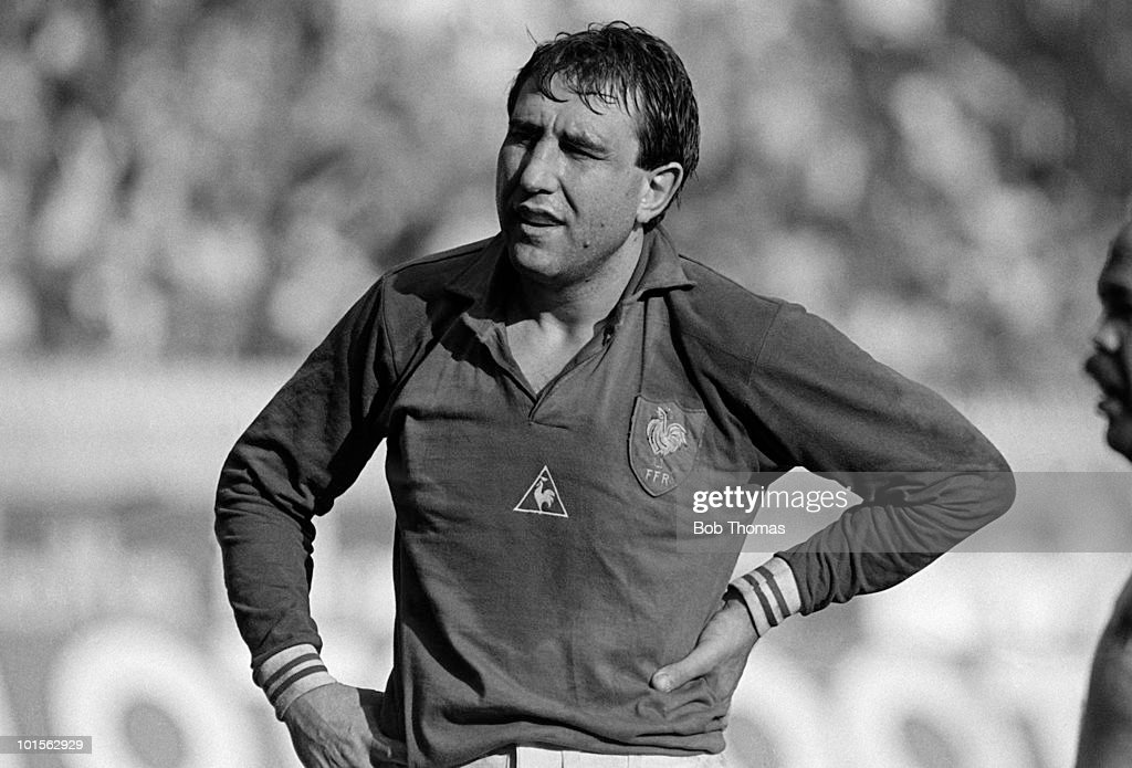 Jean-Luc Joinel of France during the Rugby Union International match against England held at the Parc des Princes, Paris on 15th March 1986. France beat England 29-10. (Bob Thomas/Getty Images).