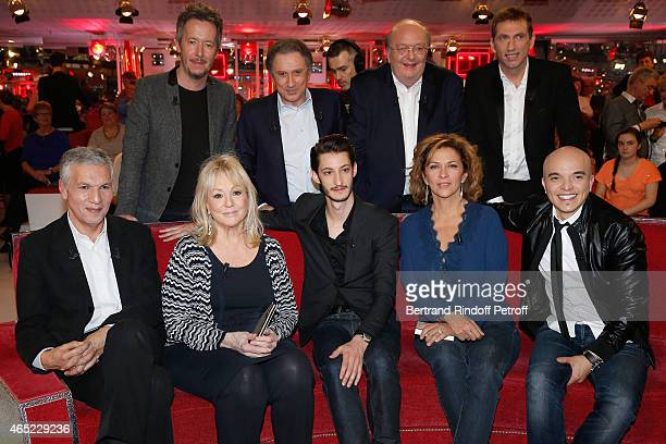 JeanLuc Lemoine Michel Drucker Bernard Mabille Thierry Garcia Rachid Arhab Mylene Demongeot Pierre Niney Corinne Touzet and Rachid Badouri attend the...