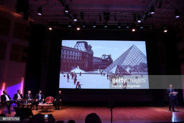 JeanLuc Martinez PresidentDirector of Musee du Louvre and Chairman of the Scientific Council of Agence FranceMuseums delivers a speech as Jean...