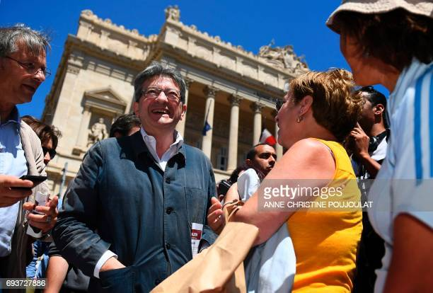 JeanLuc Melenchon candidate of farleft La France Insoumise party in the 4th district of the BouchesduRhone for the upcoming parliamentary election...