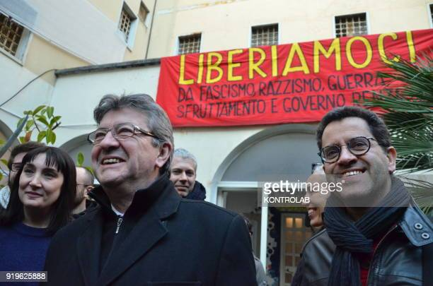 JeanLuc Melenchon leader of France Insoumise before the press conference organized by italian leftist party Potere al Popolo at former Psychiatric...
