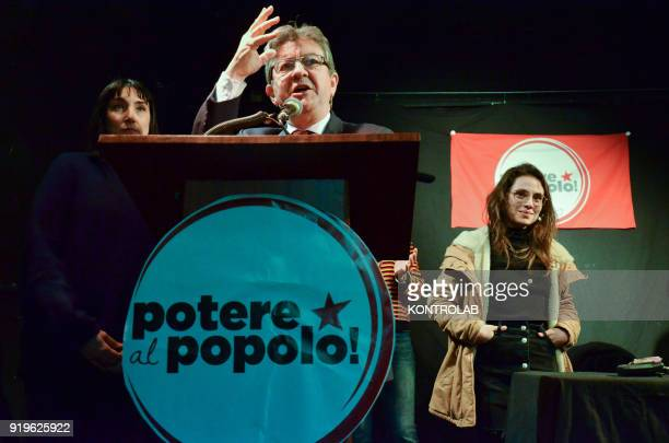 JeanLuc Melenchon leader of France Insoumise during the press conference organized by italian leftist party Potere al Popolo at former Psychiatric...