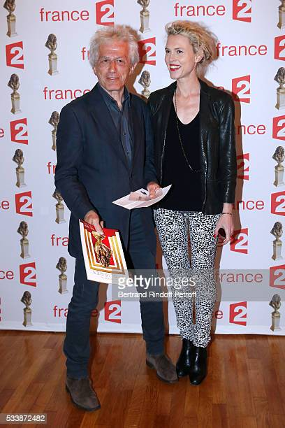 JeanLuc Moreau and his wife Mathilde Penin attend La 28eme Nuit des Molieres on May 23 2016 in Paris France