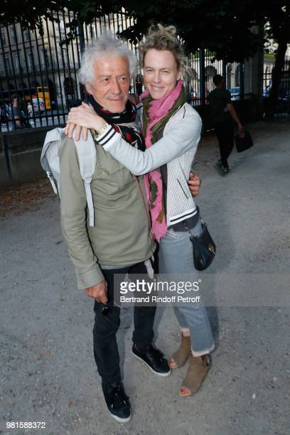 JeanLuc Moreau and his wife Mathilde Penin attend the Fete Des Tuileries on June 22 2018 in Paris France