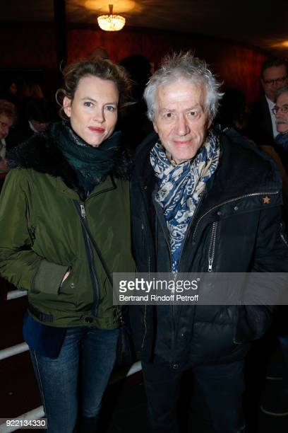 JeanLuc Moreau and his wife Mathilde Penin attend the Le Prix du Brigadier 2017 Award at Theatre Montparnasse on February 21 2018 in Paris France