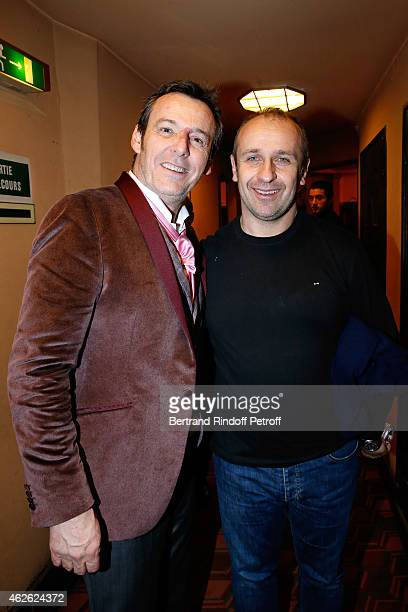 JeanLuc Reichmann and France Rugby Team Trainer Philippe Saint Andre attend France Rugby Team for '2015 6 Nations Tournament' is Guest of Honor at...