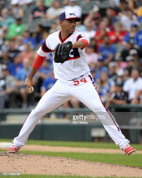 Jeanmar Gomez of the Chicago White Sox pitches against the Toronto Blue Jays on July 29 2018 at Guaranteed Rate Field in Chicago Illinois