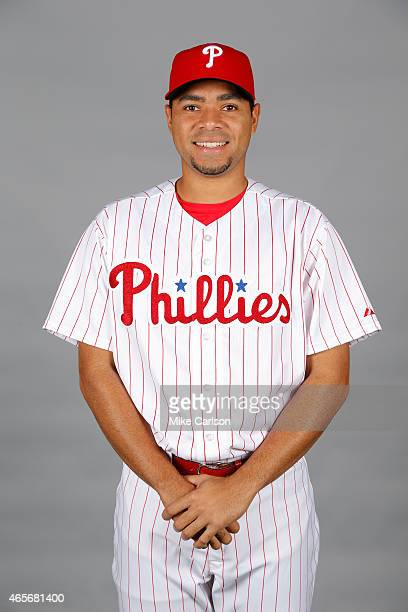Jeanmar Gomez of the Philadelphia Phillies poses during Photo Day on Friday February 27 2015 at Bright House Field in Clearwater Florida