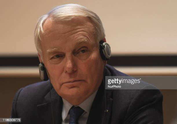 Jean-Marc Ayrault, a former Prime Minister and Foreign Minister of France, seen during a debate 'Facing rising divisions of European societies' at...