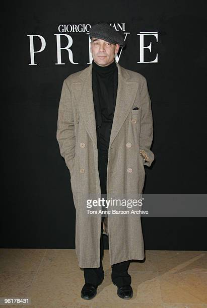 JeanMarc Barr attends the Giorgio Armani Prive HauteCouture show as part of the Paris Fashion Week Spring/Summer 2010 at Palais de Chaillot on...