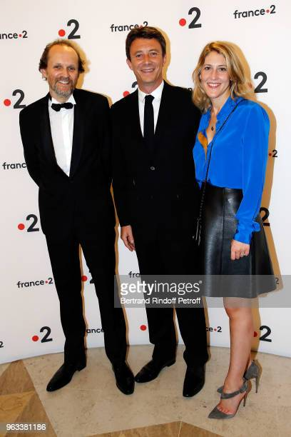 JeanMarc Dumontet Benjamin Griveaux and his Wife Julia Minkowski attend Ceremonie des Molieres 2018 at Salle Pleyel on May 28 2018 in Paris France