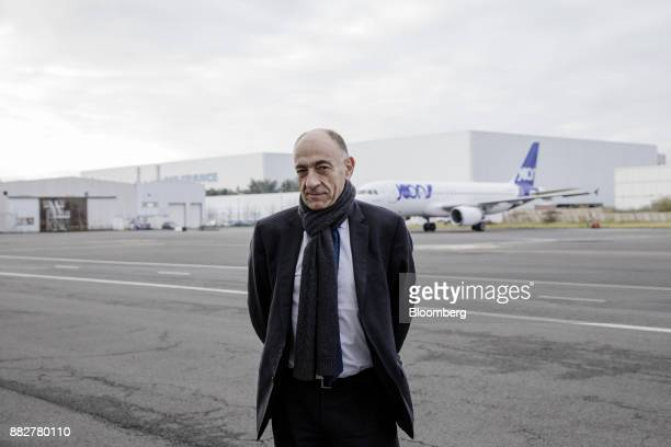 JeanMarc Janaillac chief executive officer of Air FranceKLM Group poses for a photograph during the unveiling of Joon the new lowcost carrier...