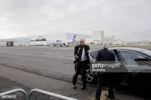 JeanMarc Janaillac chief executive officer of Air FranceKLM Group arrives for the unveiling of Joon the new lowcost carrier operated by Air France at...