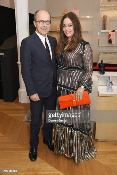 JeanMarc Loubier and Hedieh Khakbaz Loubier attend the Delvaux and British Vogue exclusive dinner on July 10 2018 in London England