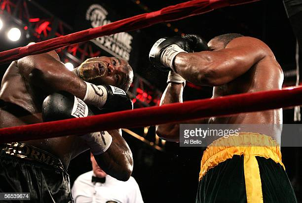 JeanMarc Mormeck and O'Neil Bell exchange punches during their World Cruiserweight Championship unification fight at Madison Square Garden January 7...