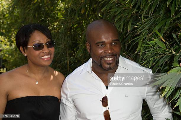 JeanMarc Mormeck and Sandra Mormeck sighting at french open 2013 at Roland Garros on June 7 2013 in Paris France