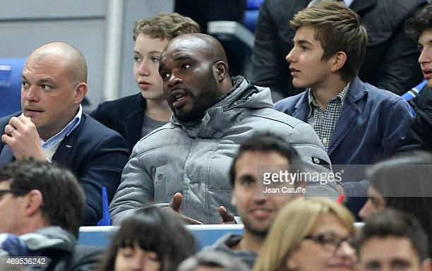 JeanMarc Mormeck attends the French League Cup final between Paris SaintGermain FC and Sporting Club de Bastia at Stade de France on April 11 2015 in...