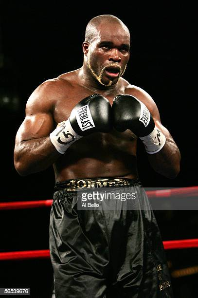 JeanMarc Mormeck looks on against O'Neil Bell during their World Cruiserweight Championship unification fight at Madison Square Garden January 7 2006...