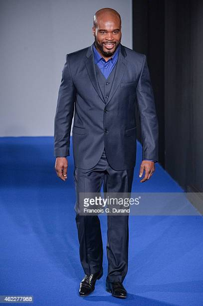JeanMarc Mormeck walks the runway during the Agnes B Menswear Fall/Winter 20152016 show as part of Paris Fashion Week on January 25 2015 in Paris...