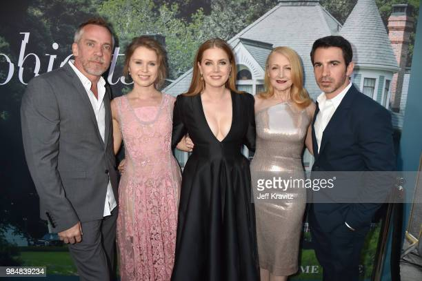 JeanMarc Vallee Eliza Scanlen Amy Adams Patricia Clarkson and Chris Messina attend HBO's Sharp Objects Los Angeles premiere at ArcLight Cinerama Dome...