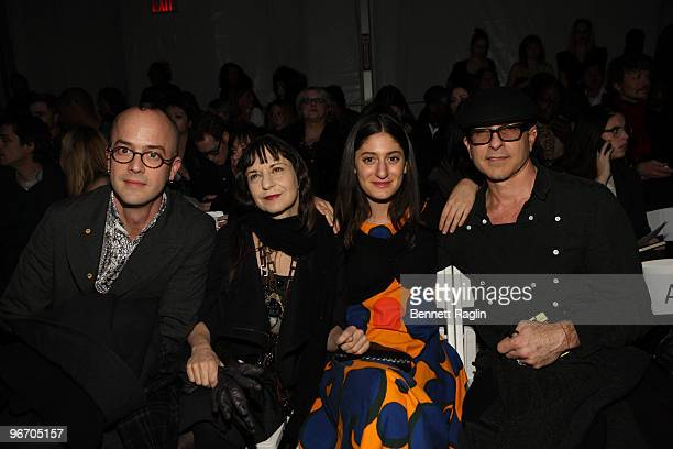 JeanMarcBlack Karen Erickson Arden Wohl and Steven Petrlnia attend Tony Cohen Fall 2010 during MercedesBenz Fashion Week at Bryant Park on February...