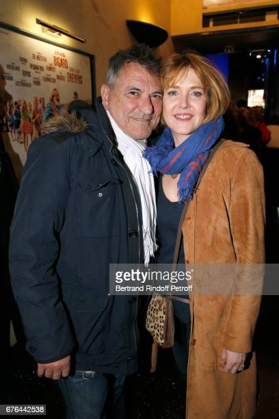 JeanMarie Bigard and Agnes Soral attend the 'Vive la Crise' Paris Premiere at Cinema Max Linder on May 2 2017 in Paris France