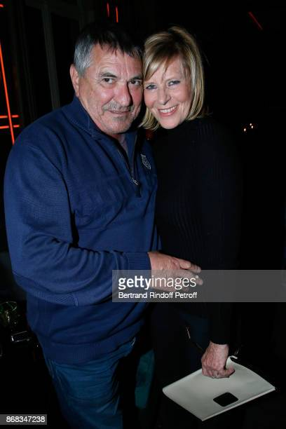 JeanMarie Bigard and Chantal Ladesou attend Claude Lelouch celebrates his 80th Birthday at Restaurant Victoria on October 30 2017 in Paris France