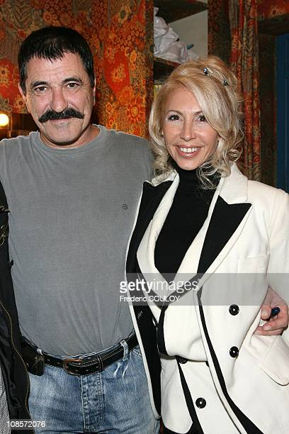 JeanMarie Bigard and his wife Claudia in Paris France on October 20 2008